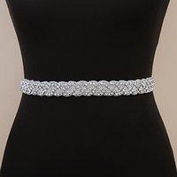 Trixy S216-S impresionantes correas de boda de Rhinestone Sash vestido de boda Cinturón formal de cinturones nupciales para mujeres Accesorios de vestido de novia