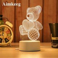 3D светодиодный мультфильм печати стола фонарь новинка иллюзия ночной ламп ABS + смола милый ночной свет для ребенка рождественский подарок декоративный