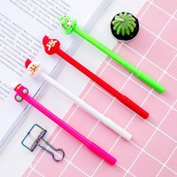 Gel Pens 4pc lot Funny Pen Cute 0.5mm Black Ink For Girl Student Stationery School Writing Pencils Office Supplies Christmas Gift
