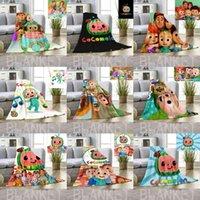 Crianças Cobertor Dos Desenhos Animados Cocomelon Ji 3D Impressão Flanela Coberturas Folha de Cama Verão Nap Desta Capa Cobertura Coco Melão Tapete 80 * 120cm G3886HE