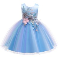 Girl's Dresses Flower Girls Dress For Wedding And Party 2021 Summer Toddler Princess Kids Costume Children