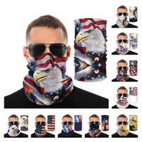 Cross Border American Flag Ice Silk Magic Scarf Scarf Outdoor Cycling Sport Variety Men And Women Summer Neck Sunscreen Neck Cover