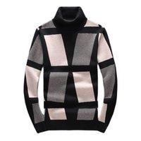 남자 스웨터 남자 럭셔리 겨울 클래식 다이아몬드 블록 양털 수 놓은 캐주얼 풀오버 아시아 플러그 크기 고품질 드레크 rez2