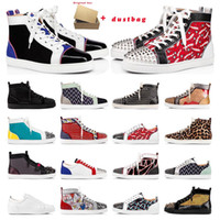 mens shoes red bottoms studded spikes fashion suede leather ...