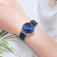 Mulheres Mulheres Luxo Relógio Relógio de Relógio Mulher Presente de Encanto Senhoras Pulseira de Aço Inoxidável Mulheres WristWatch Montre Femme