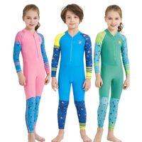 Дети Детские гидрокостюмы с длинным рукавом Девушки и мальчики Летняя анти УФ-погружение Костюм для серфинга Сноркелинг Носить 6 цветов