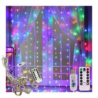 Strings 3M LED Fairy Lights Garland Curtain Lamp Remote Control USB String On The Window Christmas Decorations For Home