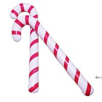 88X 25 X 7cm Inflatable Candy Cane Classic Lightweight Hanging Decoration Christmas Party PVC Balloons Adornment LLB11107