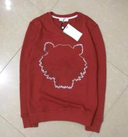Broderie Tiger Head Sweach Hommes Femmes Top Top Qualité Top à manches longues Pull à manches O-Cou Sweatshirt Jumper Casual Designer Couples Vêtements
