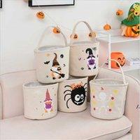 할로윈 캔디 토트 백 만화 사랑스러운 호박 거미 시리즈 패턴 장식 용품 24 * 23cm 파티 휴일 소모품 홈 스토리지 가방