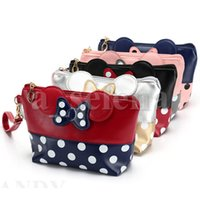 Cartoon Bags Bow Wash Travel Cosmetic Bag Case Make Zipper O...