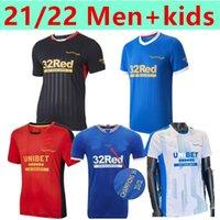 21 22 Glasgow Rangers Retro 150th special version Soccer Jerseys DEFOE HAGI MORELOS KENT STEWART men football jersey