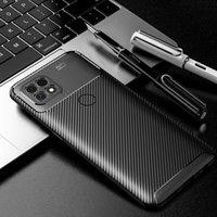 Newstoppo A15 케이싱 탄소 섬유 스크럽 딱정벌레 전화 케이스 TPU 보호 커버 Shockproof 실리콘 방지 케이스