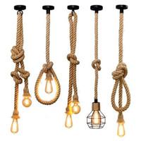 Pendant Lamps Vintage Rope Lights DIY Loft Lamp Industrial Retro Edison Bulb American Style For Room Decoration UL CE Line 110v 220v