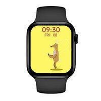 T55 + 1.75 بوصة IPS شاشة تعمل باللمس كامل الذكية ووتش الرجال النساء بلوتوث دعوة للماء hertrate الرياضة smartwatch الروبوت