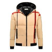 Hommes Classique Down Down Coat Mode Motif à rayures épaisses Vestes Casual Garçons Hiver Boys-vent Britannique Manteaux 2021