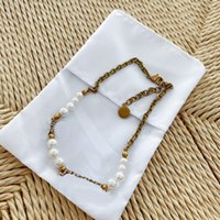 Diamant Halskette Frau Kette Halskette Trend Perle Halskette Lange Halsketten Charme Modeschmuckversorgung