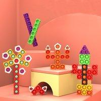 30 unids / bolsa de novedad Juegos Anti-Rat Pioneer Bloques de construcción Burbuja Juguetes educativos para niños para desarrollar el ejercicio cerebral El pensamiento puede ser una costura infinita