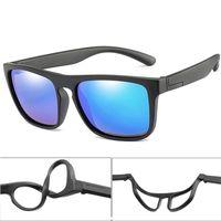 Óculos de sol 2021 Moda Childrien Quadrado Polarizado Crianças Meninos Meninas Sil Breakable UV400 Óculos