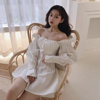 Vestidos casuais manga comprida verão vestido branco vestido feminino moda ruffles pescoço sexy pescoço sem costas mini-vestidos fora do ombro vestidos