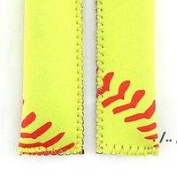 Popsicle Holder Neoprene Sport Pop Bag Rectangle Popsicle Mould Sleeves Holder Lily Baseball Rugby Ice Cream Cover ZZD11101