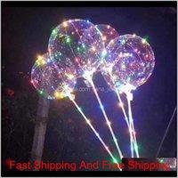 31.5inch 스틱 3m 문자열 풍선 라이트 크리스마스 할로윈 결혼 생일 파티 장식 보보 풍선 DQ5UO O38RV와 LED 보보 풍선