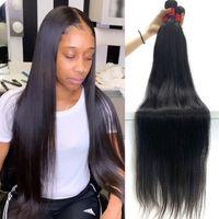 Ylove Straight Bundles 30 Inch Human Hair Bundles Natural Color Virgin Bone Straight Remy Hair 1 3 4 Bundles Hair Weave Extensions