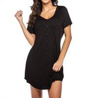 Ночное платье с коротким рукавом Женщины Питание Mini Loungewear Nightgown Мягкая спящая домашняя одежда Koszula NOCNA