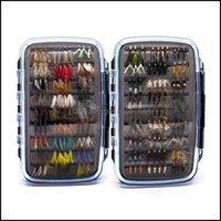 Baits Lures Sports & Outdoors180 Pcs Wet Dry Nymph Minnow Fishing Set Fly Lure Kit Hand Tied Flies For Trout Pike Grayling Artificial Drop D