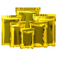 Gold Multiple Sizes Aluminum Foil Mylar Sample Power Packing Bags Small Gift and Crafts Packaging Pouches Flat Bottom