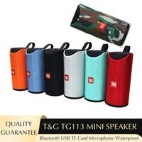 높은 음질 TG TG113 미니 스피커 7 색 Bluetooth 휴대용 스피커 무선 TF 카드 및 USB 디스크 방수 라우드 스피커