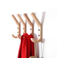 Creative Wooden Wall Hooks Towel Coat Hat Hangers Oak Wood Mounted Hook Key Holder Storage Door Rack Organizer Nordic Style RRD7731