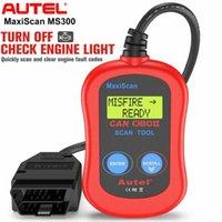 Code Readers Scan Tools Autel Maxiscan MS300 OBD2 Сканер, Автомобильные аксессуары Диагностический автомобиль Инструмент Автомобильный сканер Ремонт