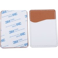 Creative Sublimation Blank Leather Mobile Phone Stickers Favor Heat Transfer DIY Card Holder ID Storage 9.7*6.6CM 925 B3