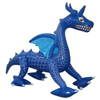 6-voet dinosaurus geschenkdoos, ingebouwde led opblaasbare kerstdecoratie, kerstfeest opblaasbaar speelgoed, buitenbinnenplaats