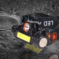 Luz do trabalho do farol para a lâmpada da pesca do farol do farol do farol de água impermeável 2 LED Conduzido na bateria USB recarregável