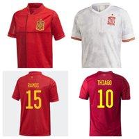 Maglia da calcio di alta qualità 2021 2022 Spagna Rodrigo Paco Alcace L Shirt 20 21 Morata Ramos Salabian T-shirt da calcio