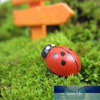 100 adet / takım Mini Ladybugs Bahçe Dekor Sevimli Karikatür Böcek Ladybug Mini Böceği Çıkartmalar DIY Mikro Peyzaj Sanat Bitki Dekorasyon