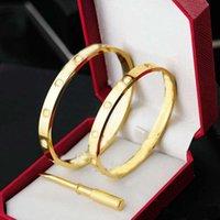 Aşk Bilezik Bilezik Kadın Erkek 4cz Titanyum Çelik Vida Tornavida S Altın Gümüş Gül Tırnak Bilezikler Takı Moda Trend Klasik Tasarımcı Tasarım
