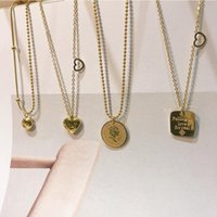 Chains 2021 Heart Letter Chain Necklace Multilayer Metal Trendy Gold Pendant For Women Trend Female Jewelry Collar