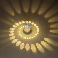 Bulbos RGB Agujero espiral LED Lámpara de efecto de pared de pared con control remoto Varita colorida para Party Bar Lobby KTV Decoración del hogar