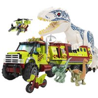 539pcs Technic Dinosaur Mobile Laboratory Truck Building Blocks Jurassic Park World Bricks Set Kids DIY Toys for Children Gifts X0127