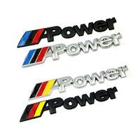 1 Stück Neuwagen Aufkleber 3D Metall Power für BMW M E30 E36 E60 E40 E90 E91 E87 F30 F10 F10 X1 X3 X5 X6 AUTO Zubehör
