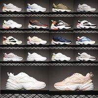عالية الجودة 2021 M2K Tekno الكتان الأبيض الأحمر الرجال الاحذية Teknos Royal Crimson University Blue Pure Platinum Womens Triple Pink Black Sports Sneakers 36-45 L5IB #