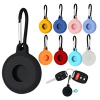 Soft Silicone Case Protective Cover Sleeve With Keychain for Apple Airtag Smart Bluetooth Wireless Tracker Anti-lost