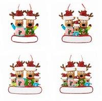 Kerst Ornament Opknoping Rendier Familie Decor voor Kerstmis Thuis Kantoor Kamer Decoratie Ambachten met String Geassorteerde Hangers GWF11357