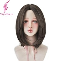 Synthetic Wigs Yiyaobess 14inch Short Brown Wig Hair Straight Natural Daily Women For Party