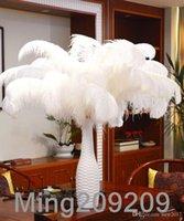 Decoração de festa 50 pçs / lote 18-20 polegadas (45-50cm) Plumas de penas de avestruz branca para decoração de eventos de peça central de casamento festivo