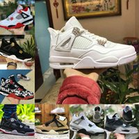 VENTE 2021 Bred Black Cat 4 4s Chaussures de basketball Hommes Mens Fear Pack Pack blanc Ciment Encore Wings Fire Red Singles Designers Sneakers IV Pure Argent