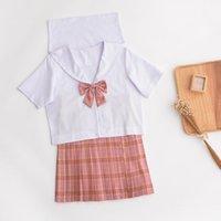 Clothing Sets JK Uniform Business Attire School Tartan Skirt Suit Orthodox Japanese College Student Summer Sailor Female